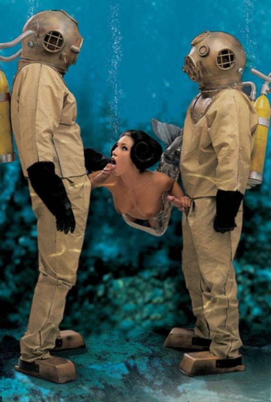 Аквалангисты трахают русалку