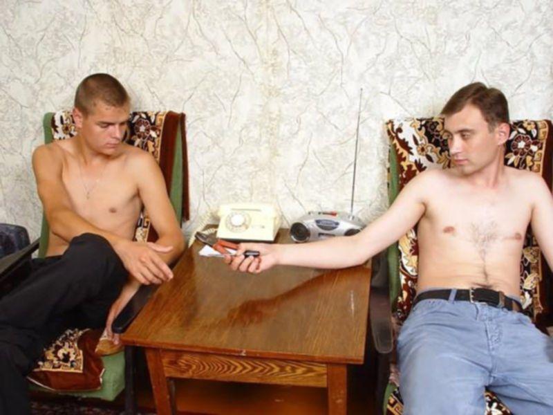 Русскую женщину поделили на двоих