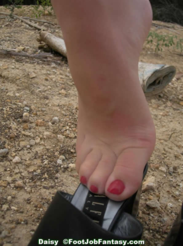 Ступни женски ног в колготах